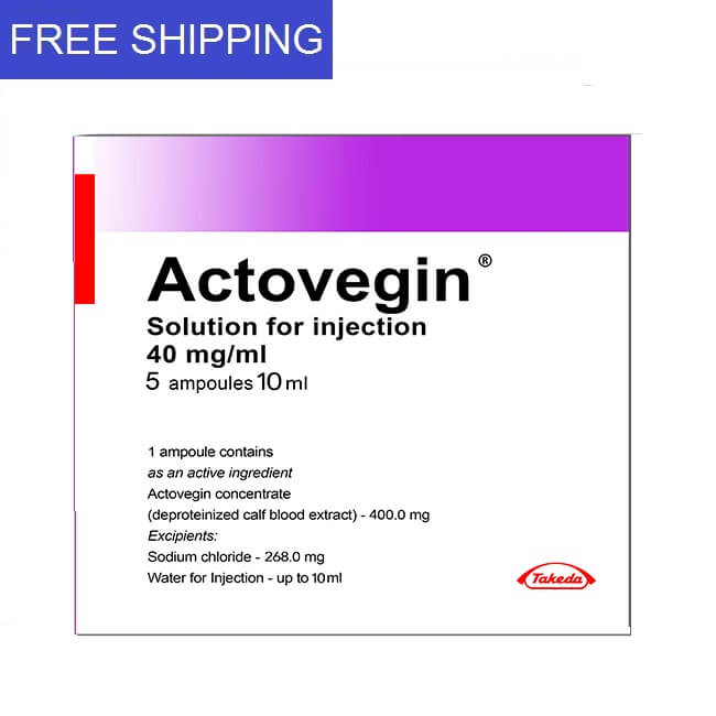 ACTOVEGIN 40mg/ml 10ml 5 ampoules