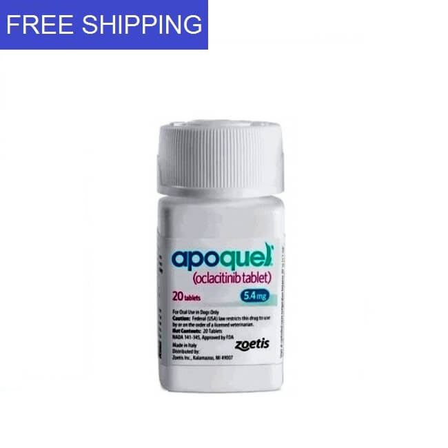 APOQUEL (OCLACITINIB) 5.4mg 20 tablets