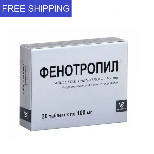 Phenotropil 100mg 30 tablets