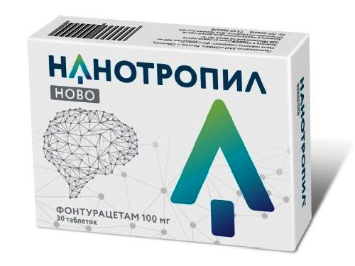 Nanotropil novo 100mg 30 tablets